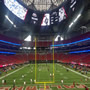 Atlanta Falcons Seat View for Mercedes-Benz Stadium Section 101, Row 25