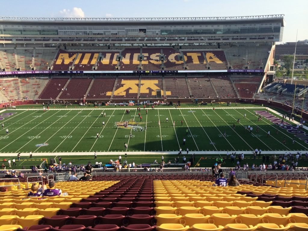 Seat View For Tcf Bank Stadium Section 210