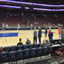 Basketball Seat View for Wells Fargo Center Section 124, Row 3